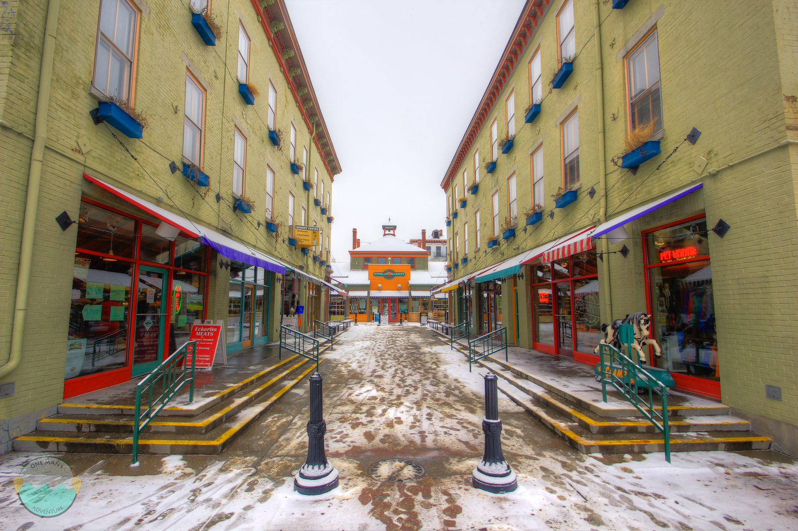 Findlay Market<br /> Winter in the market.  Surprising how many people show up on a snowy day to shop in the dead of winter.