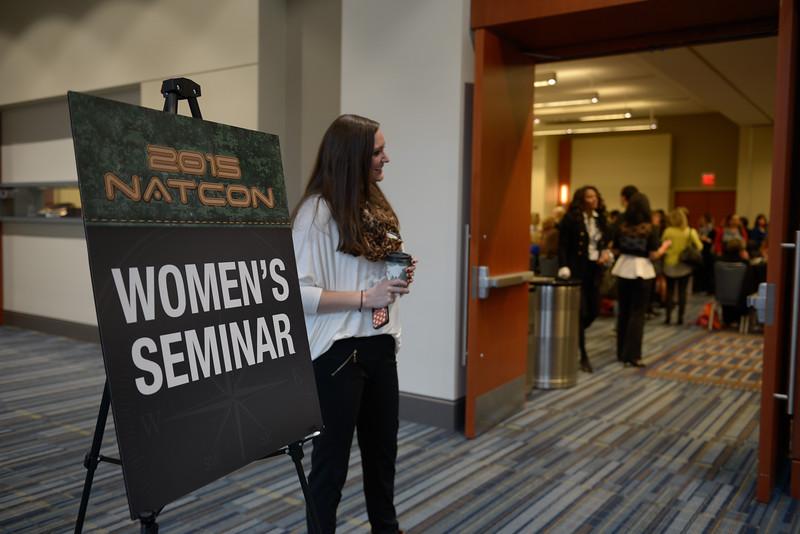 Kicking off the Women's Seminar at NatCon15