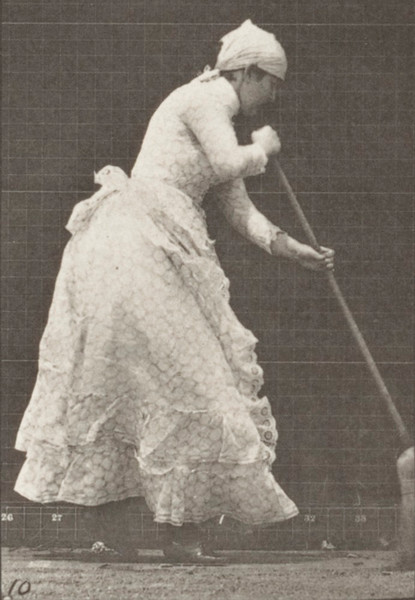 Woman sweeping