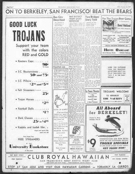 Daily Trojan, Vol. 29, No. 26, October 22, 1937