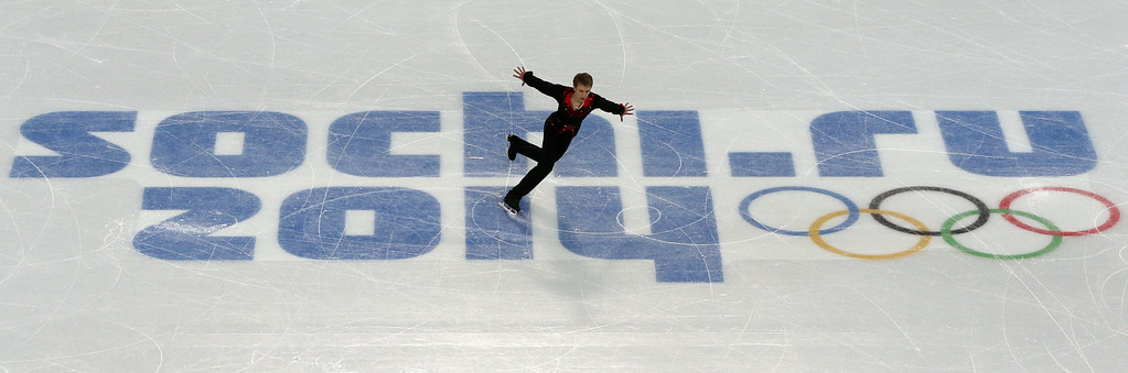 . Czech Republic\'s Michal Brezina performs during the Men\'s Figure Skating Short Program at the Iceberg Skating Palace during the Sochi Winter Olympics on February 13, 2014. ADRIAN DENNIS/AFP/Getty Images
