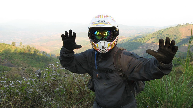 The world's newest super hero (Scott in his gear).
