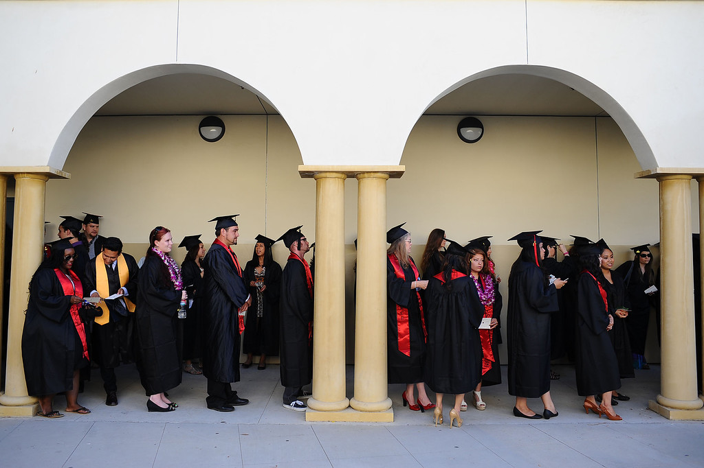 . Students participate in the 2014 Commencement Ceremony at Pierce College June 10, 2014 in Woodland Hills, CA.(Andy Holzman/Los Angeles Daily News)