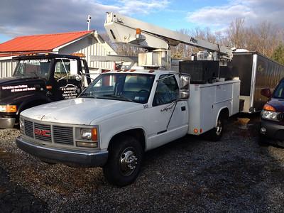 Chevy bucket truck
