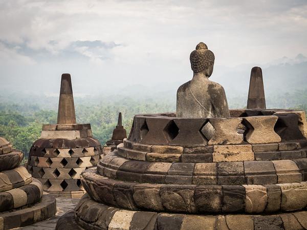 Borobudur and Prambanan, Java