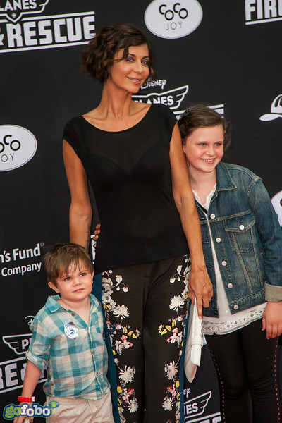 HOLLYWOOD, CA - JULY 15: Actress Catherine Bell and family attend the premiere of Disney's 'Planes: Fire & Rescue' at the El Capitan Theatre on Tuesday July 15, 2014 in Hollywood, California. (Photo by Tom Sorensen/Moovieboy Pictures)