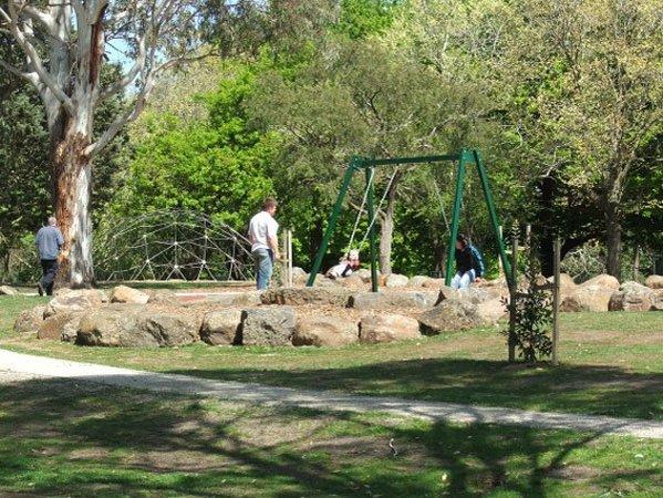 boulder garden edging
