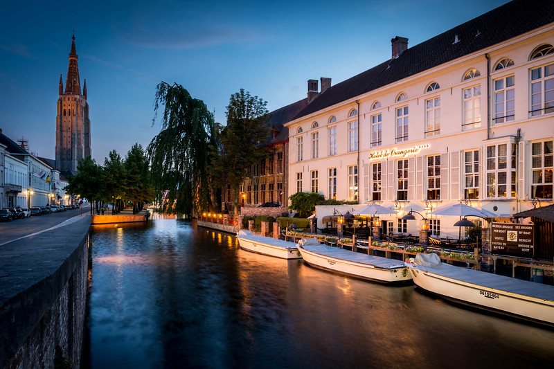 Blue Hour on the Canal - Bruges, Belgium