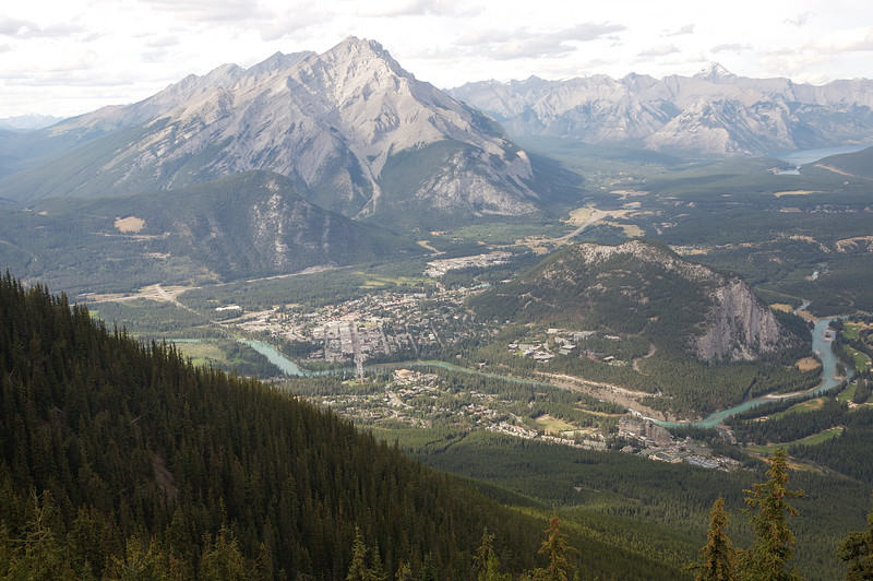 Banff taken from the visitors center at the top of the Banff Gondola