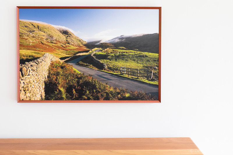 on the wall :: framed photo, flat mounted canvas