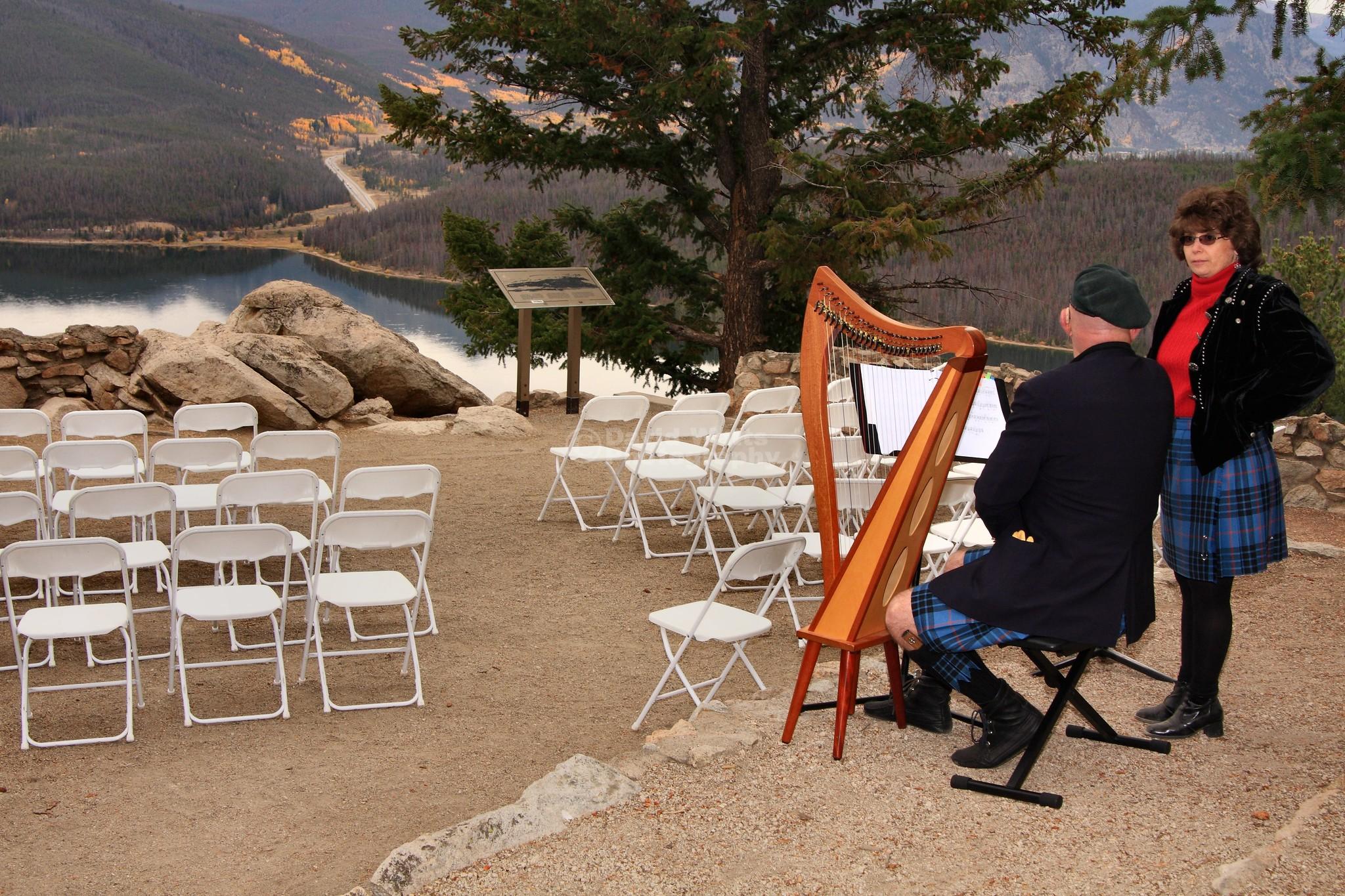 Beth's Wedding Above Lake Dillon