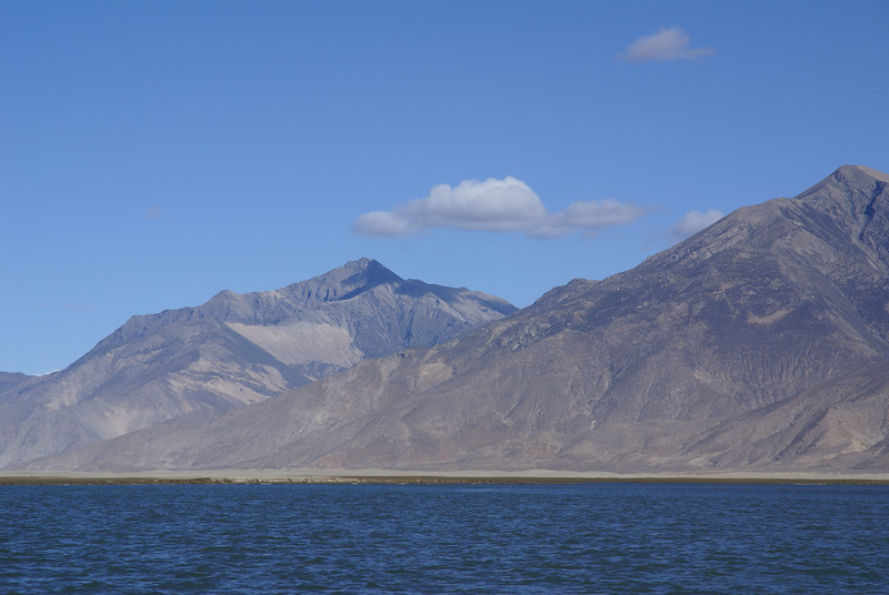 Yarlung Tsampo river and mountains.