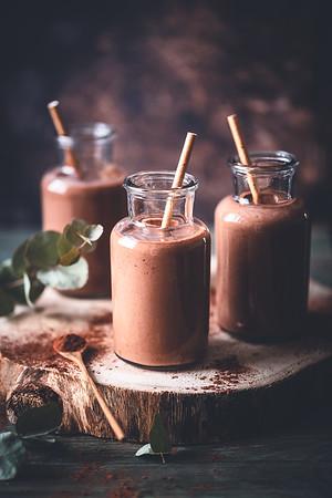 Smoothie chocolat et beurre de cacahuètes