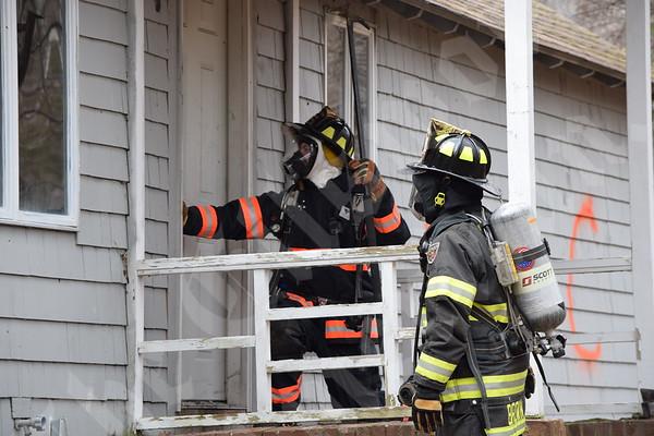 Fire departments training burn