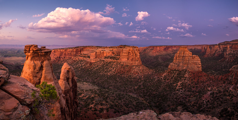 Twilight at Colorado National Monument