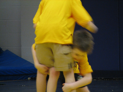 Brock and Grant wrestling