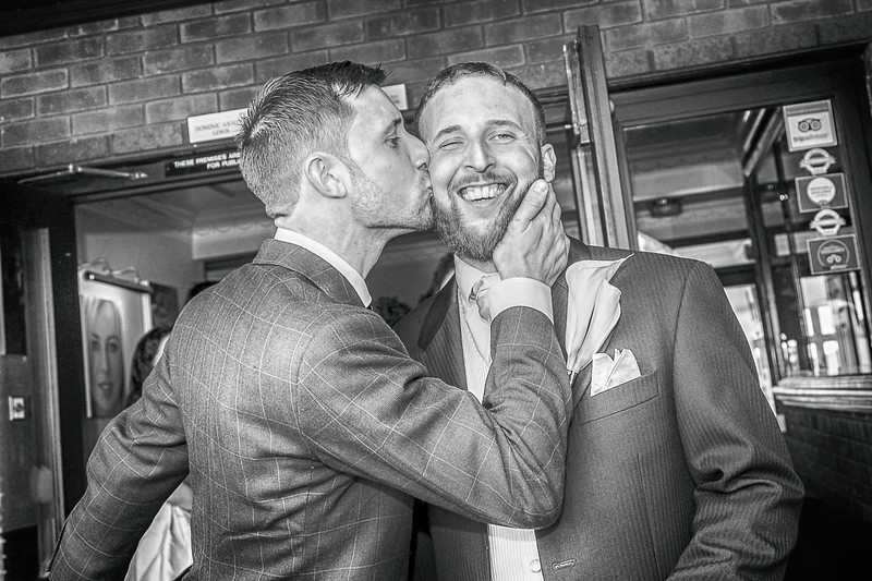 Groom Appreciation Society. Wedding photography in Newport and Cardiff by Nick Fowler