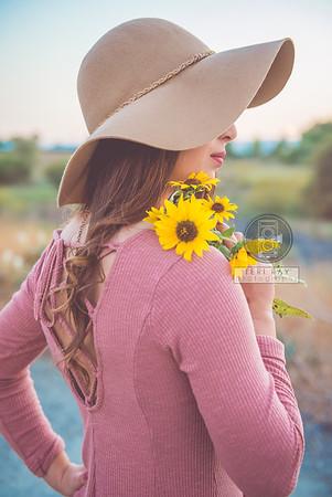 Taylor's Senior  Sunflower Shoot