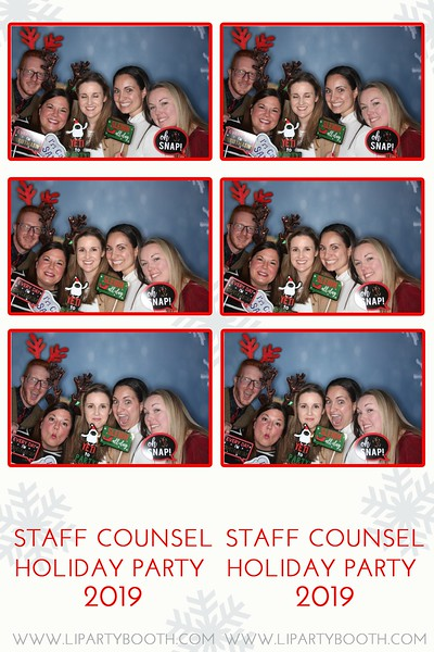 Staff Counsel Holiday Party 2019
