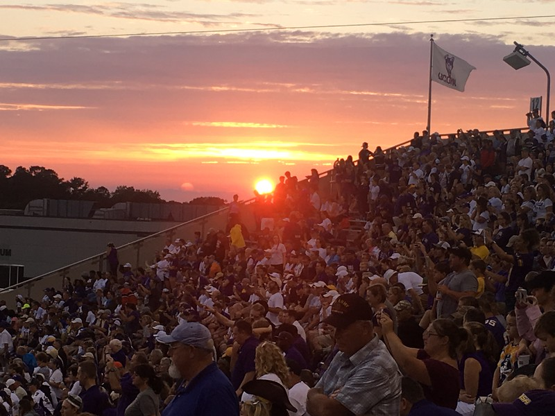 ECU Football sunset