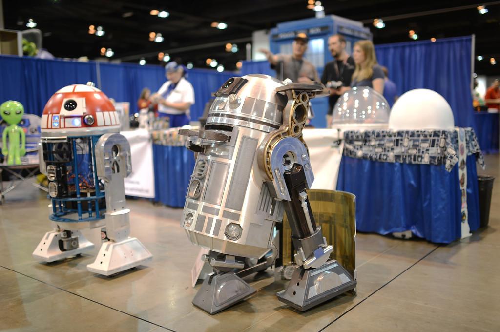 . DENVER, CO. - MAY 31: Build R2-D2 booth in Denver Comic Con at Colorado Convention Center. Denver, Colorado. May 31, 2013. (Photo By Hyoung Chang/The Denver Post)