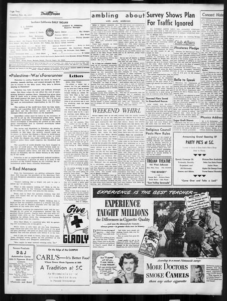 Daily Trojan, Vol. 38, No. 82, February 25, 1947