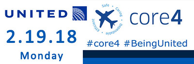 United Airlines core4 2.19.2018 - #core4 #BeingUnited
