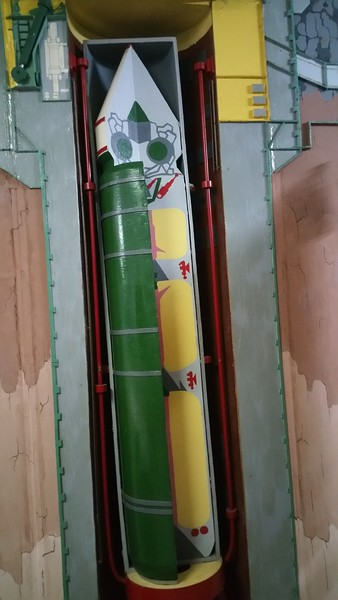 Our guide explains using this cutaway model how the Missile Silo looked and operated.