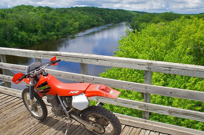 High over the St. Croix River on the Gandy Dancer Trail.