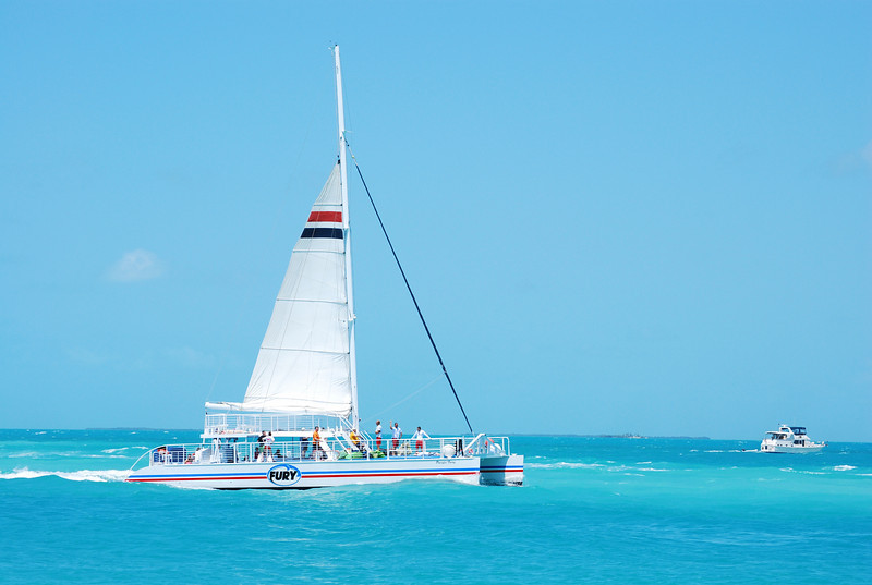 The Fury Catamaran sails daily to the reef for snorkel trips
