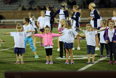 Mini Cheerleaders During Football vs. Ellis 2016