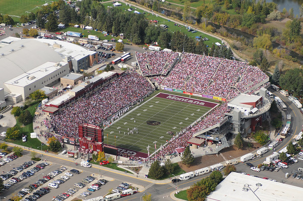 University of Montana Washington Grizzly Stadium Aerial Photographs