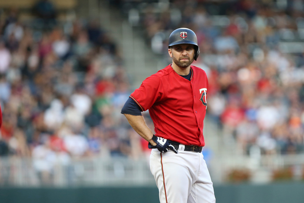 . Minnesota Twins\' Brian Dozier in a baseball game against the Cleveland Indians, Monday, July 30, 2018 in Minneapolis. (AP Photo/Stacy Bengs)