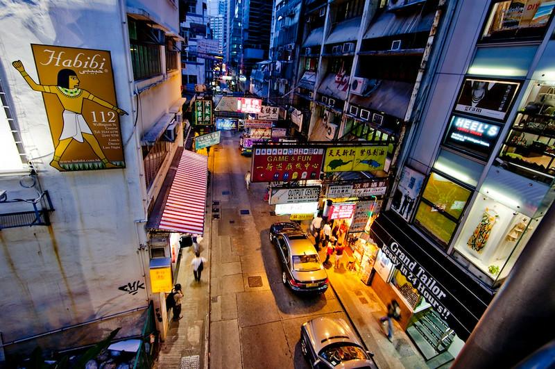 Hollywood Road from above, Hong Kong Island 2012