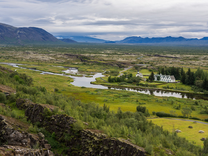 The Althing in Þingvellir National Park, where the vikings held court of law and modern Iceland declared independance.