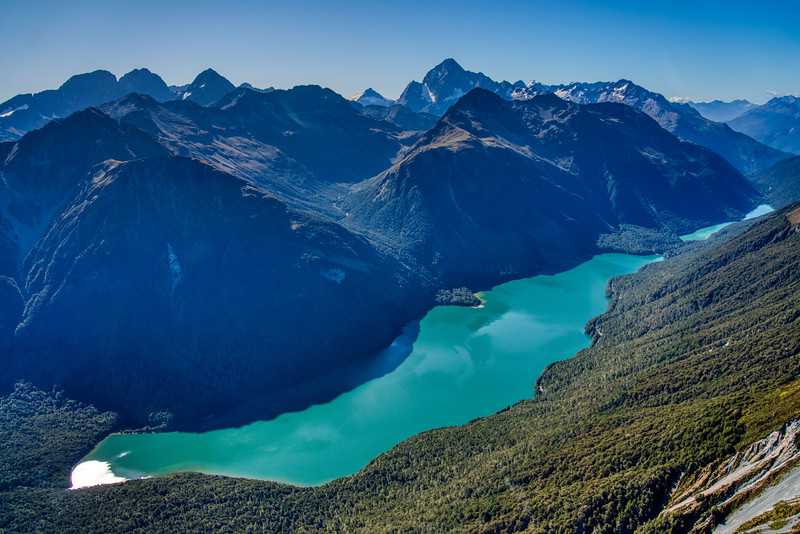 Glacial Lake in the Southern Alps