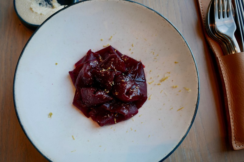 108: winter beetroot with hot smoked veal heart & black currants