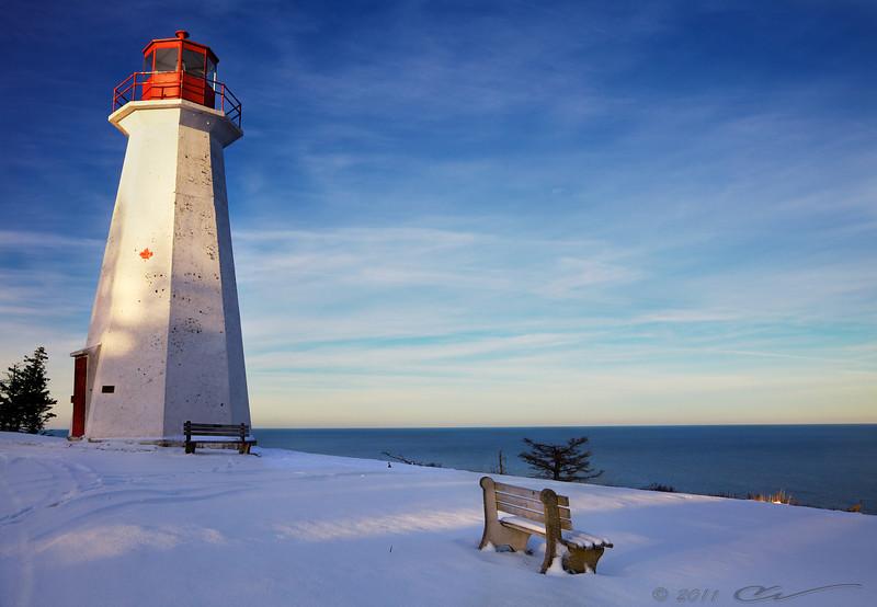 Cape George Lighthouse, Cape George Point, Nova Scotia, Canada.