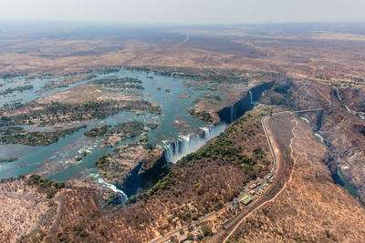 Arial shots of the Victoria Falls, Zimbabwe  2013