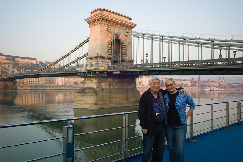 On the Viking Legend, docked in Budapest