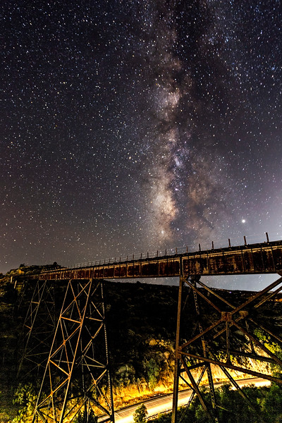 Milky Way And 103-Year-Old Campo Creek Viaduct