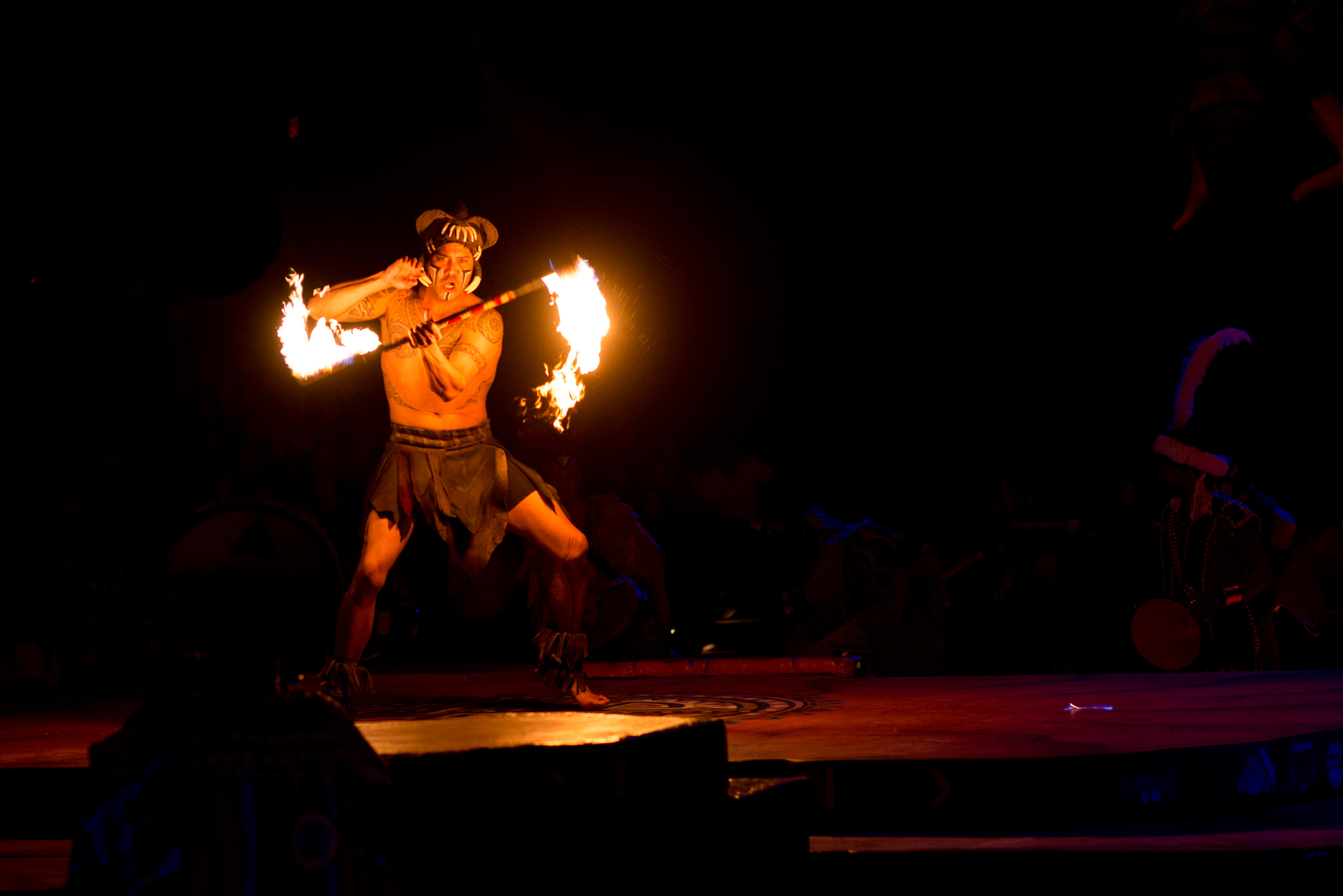 Fire Spinning at Disney's Animal Kingdom - Festival of the Lion King