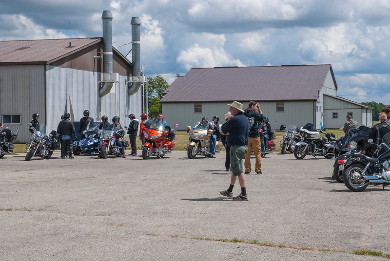 Riders in the Optimist Club Canada Day charity ride enjoyed their visit to CHAA