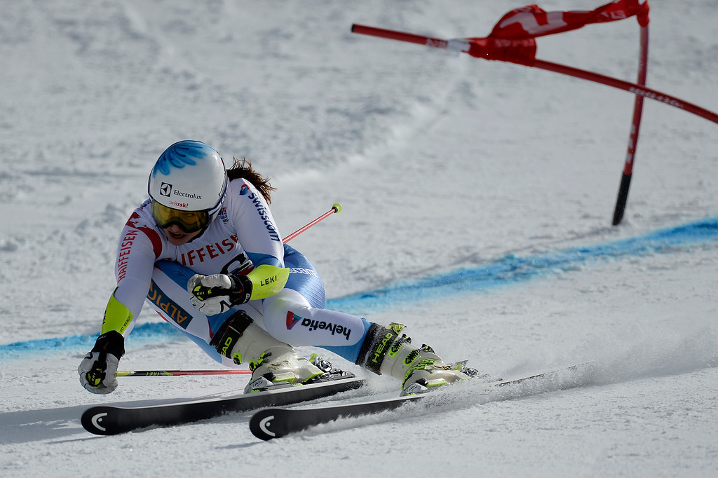 . BEAVER CREEK, CO - FEBRUARY 12: Wendy Holdener of Switzerland competes during the ladies\' giant slalom. FIS Alpine World Ski Championships 2015 on Thursday, February 12, 2015. (Photo by AAron Ontiveroz/The Denver Post)