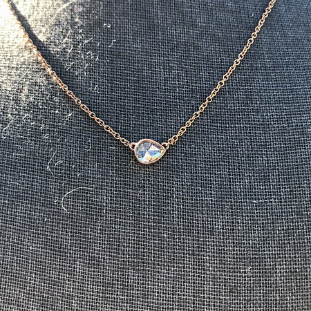 .65ct Pear Rose Cut Pendant, 18kt Yellow Gold