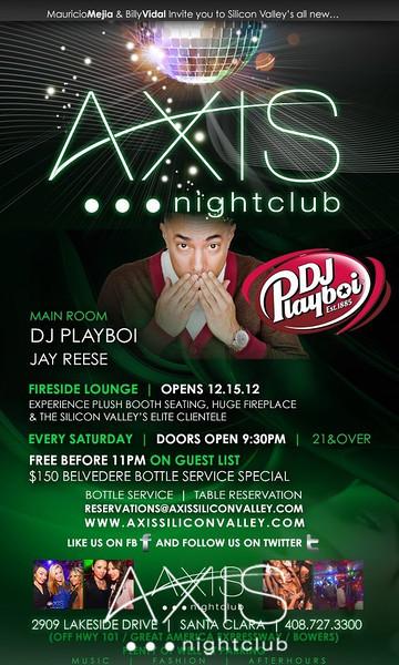 Axis Saturdays @ AXIS Nightclub 12.1.12