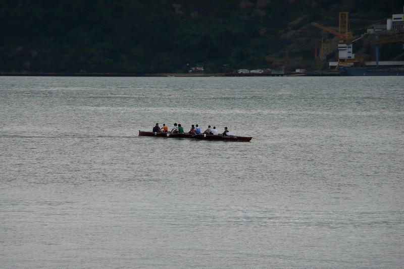 Rowing on Rio Tejo. Belém, Lisbon