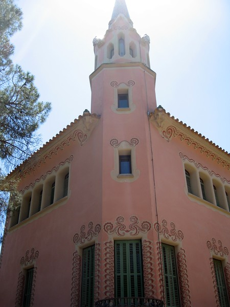 La Torre Rosa, Antoni Gaudí's home in Park Güell and now a museum dedicated to his work