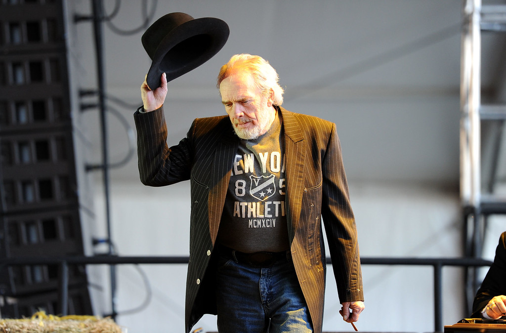 . Musician Merle Haggard seen during day 1 of Stagecoach: California\'s Country Music Festival 2010 held at The Empire Polo Club on April 24, 2010 in Indio, California.  (Photo by Frazer Harrison/Getty Images)