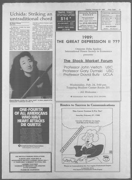 Daily Trojan, Vol. 106, No. 29, February 23, 1988